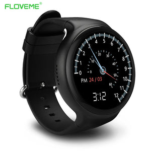 FLOVEME I4 Bluetooth 4.0 Smart Watch Wristwatch For Android Phone 5.1 Support Heart Rate Pedometer SIM Card GPS Sport SmartWatch