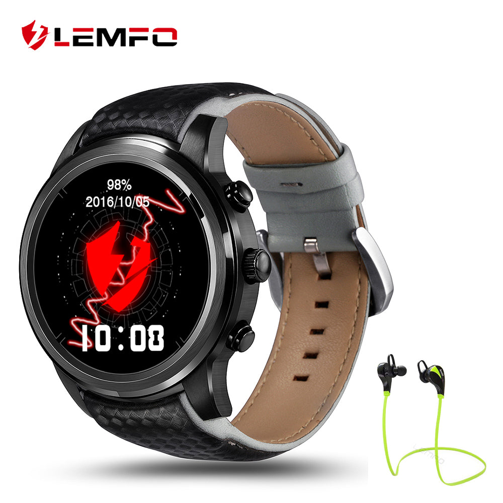 2017 Best LEMFO LEM5 Android 5.1 OS Smart Watch 1GB + 8GB Bluetooth 3G Wifi Smartwatch for iPhone IOS Android Phone