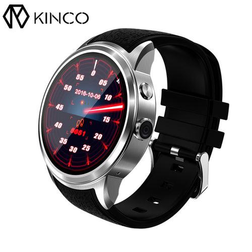 KINCO 1.39 inch Android 5.1 1.3GHz 512MB 8GB SIM GPS 3G Pedometer Waterproof Heart Rate Monitor Smartwatch Phone for IOS/Android