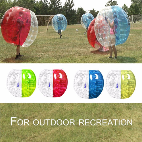 Outdoor Activity PVC Inflatable Bumper Bubble Soccer Zorb Ball For Adult Buffer Ball Running Family Game Body Suit Loopy Ball