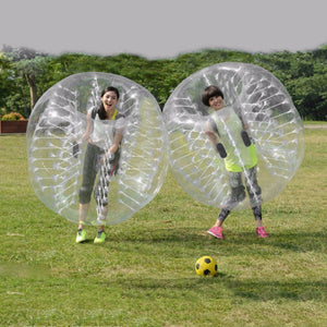 PVC Inflatable Bubble Collision Bumper Buffer Ball 1.2m Diameter Human Knocker For Adult Outdoor Sport Game Zorb Ball Drop Ship