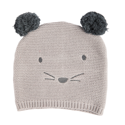 BEANIE MOUSE GREY