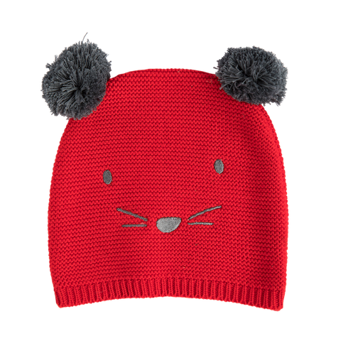 BEANIE MOUSE RED
