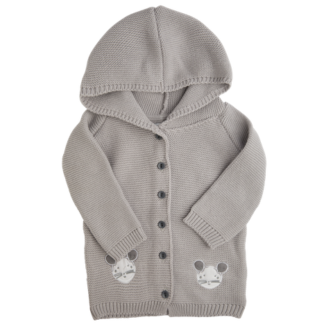 CARDIGAN MOUSE GREY