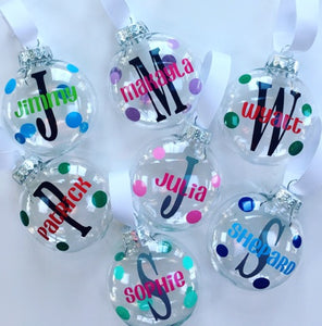 Personalized Kids Plastic Ornaments | Gift Box Included!
