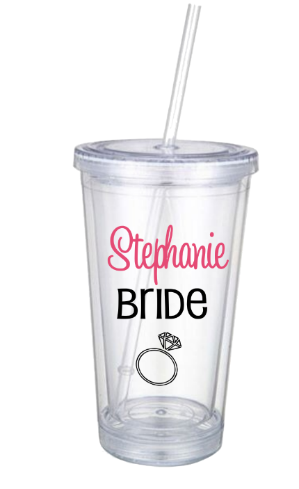 Personalized Bachelorette Tumblers With Wedding Role