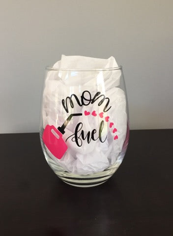 Mom Fuel Stemless Wine Glass