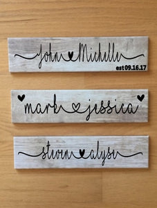 Personalized Marriage/Relationship Plaque