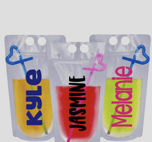 Personalized Adult Drink Pouches
