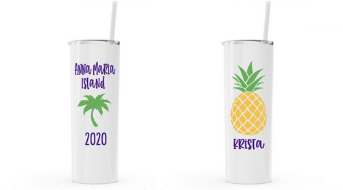 Personalized Vacation Stainless Steel Tumblers
