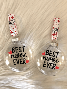 Best Nurse Ever Ornaments | Gift Box Included!