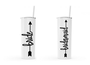 Bachelorette Skinny Stainless Steel Tumblers