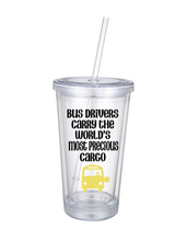 Personalized Tumbler For Bus Drivers