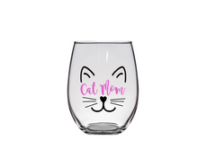Cat Mom Wine Glass