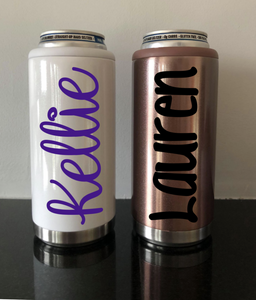 Personalized Stainless Steel Slim Can Coolers