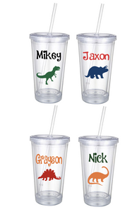 Personalized Dinosaur Tumblers (16oz)
