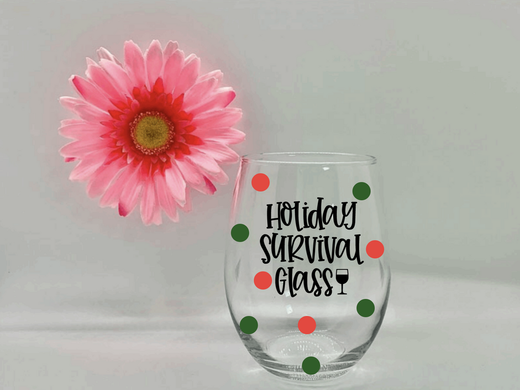 Holiday Survival Glass