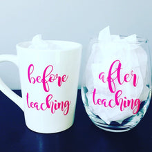 Before/After Teaching Coffee Mug & Wine Glass Set
