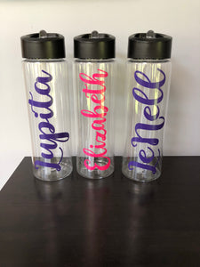 Personalized Water Bottle (Name Only-24oz) | 24 Different Font Styles To Choose From!
