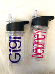Personalized Little Summit Water Bottles (10oz) For Ages 2-6 | 12 Different Font Styles To Choose From!