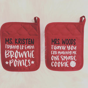 Personalized Pot Holders | Pot Holder Only
