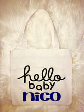 """Hello Baby"" Tote Bags 