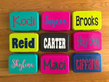 *AS SEEN ON THE TODAY SHOW| Personalized Pencil Boxes |10  Different Pencil Box Colors & 24 Different Font Styles To Choose From!