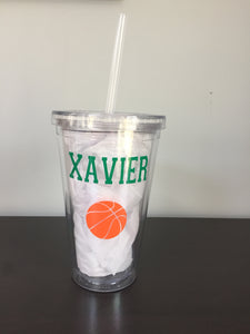 Personalized 16oz Sports Tumblers | 6 Different Font Styles To Choose From!