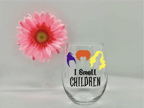 """I Smell Children"" Wine Glass"