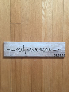 Personalized Kids Plaques