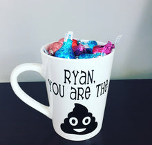 Personalized Valentine's Day Emoji Mugs | Hershey Kisses Included!