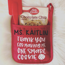 Personalized Pot Holders | Cookie/Brownie Mix + Spatula Included! Wrapping included!