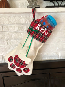 Personalized Paw Print Stockings