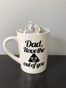 Father's Day Emoji Mugs | Hersey Kisses Included!