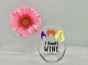 """I Smell Wine"" Glass"
