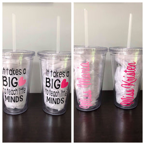 Tumblers for Teachers | 20 Different Font Styles To Choose From For The Name