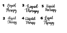 Liquid Therapy Stemless Wine Glass | 6 Different Font Styles To Choose From!
