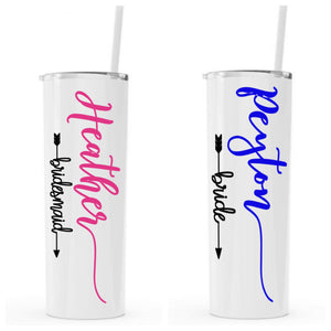 Personalized Stainless Steel Tumblers For Wedding Party