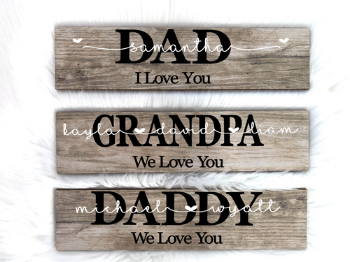 Personalized Father's Day Plaque