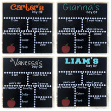 Personalized First/Last Day Of School Chalkboards | Many Different Colors & 30 Different Font Styles To School From!