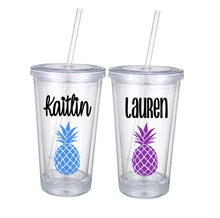Personalized Pineapple Tumblers | 6 Different Font Styles To Choose From!