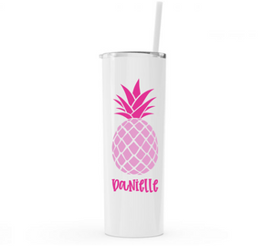 Personalized Pineapple Stainless Steel Tumblers