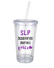 Personalized Tumbler For Speech Pathologists