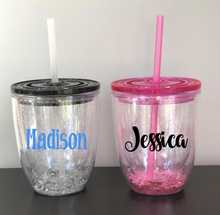 Glitter Unicorn/Name Tumblers | 10 Different Font Styles To Choose From!