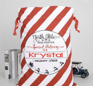 Personalized Santa Sack | Many Different Colors & Font Styles To Choose From!