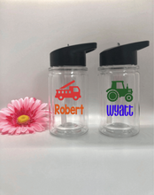 Personalized Kids 10oz Truck Water Bottles