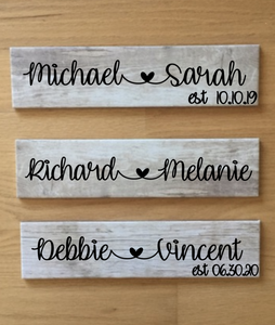 Personalized Plaque For Couples