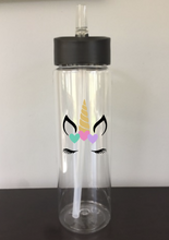 Personalized 24oz Unicorn Water Bottle (Name On Back) | 8 Different Font Styles To Choose From!
