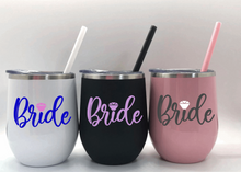 Bride Stainless Steel Wine Tumblers