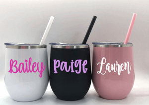 Personalized Stainless Steel Wine Tumblers